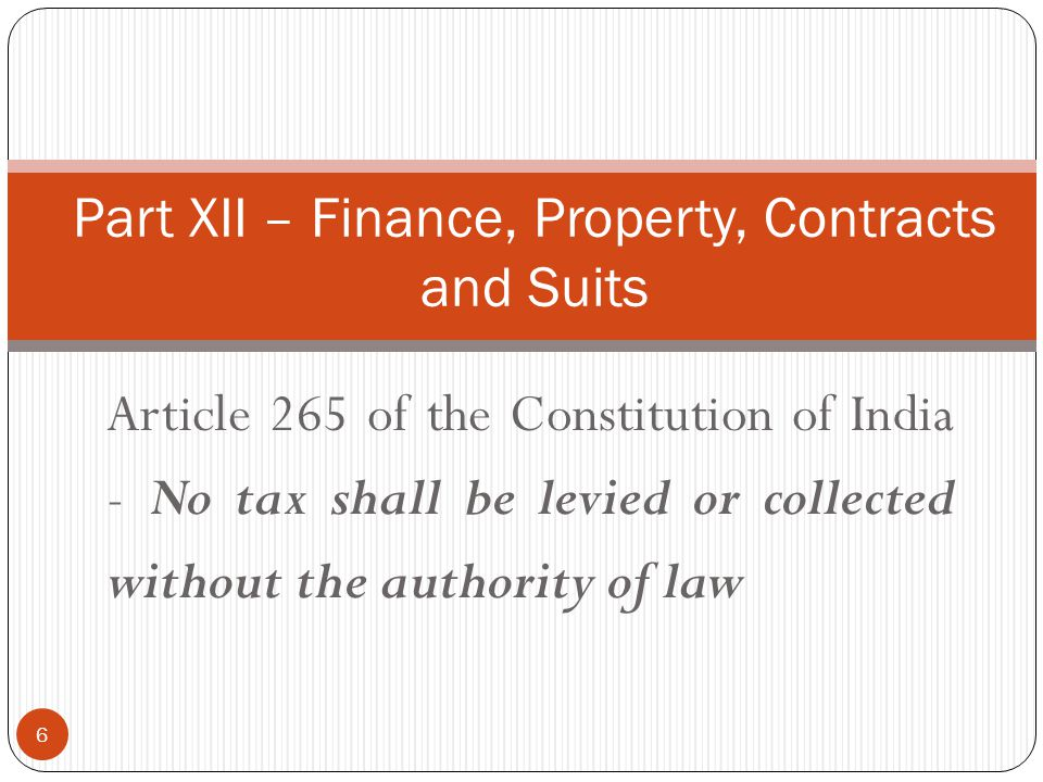 Part XII – Finance, Property, Contracts and Suits
