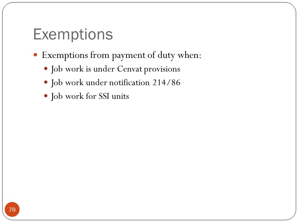 Exemptions Exemptions from payment of duty when:
