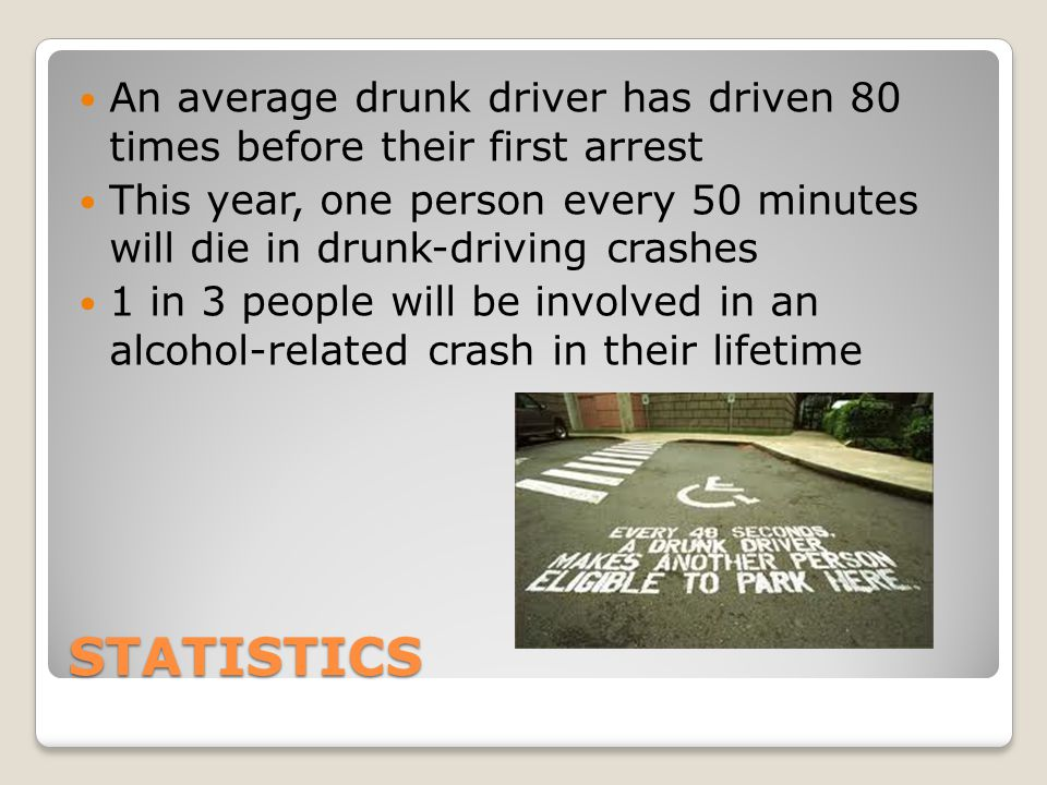 An average drunk driver has driven 80 times before their first arrest