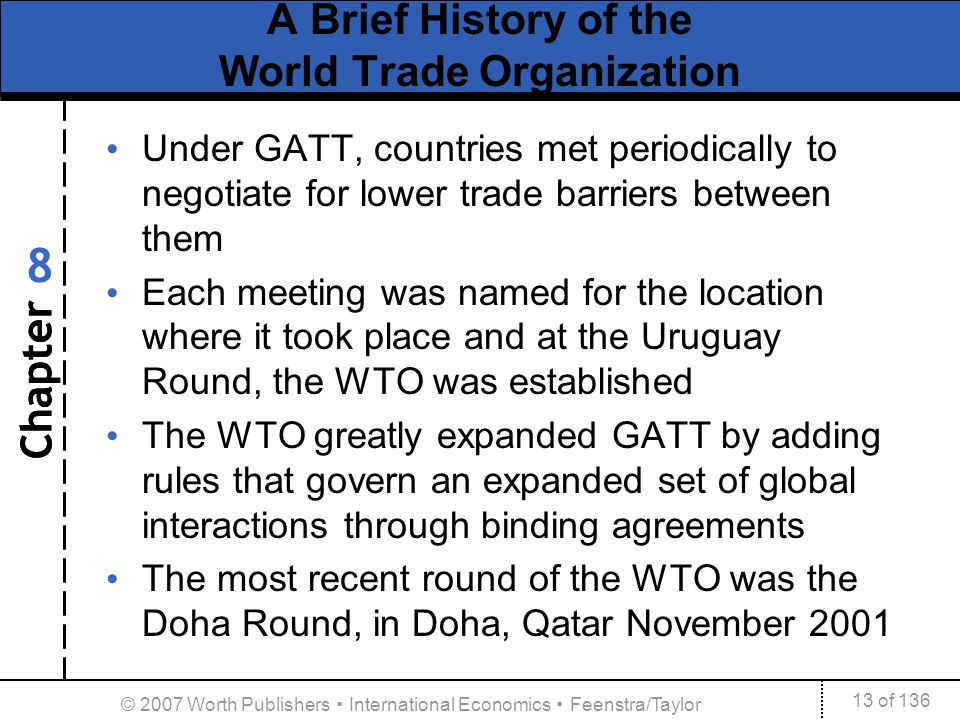 A Brief History of the World Trade Organization
