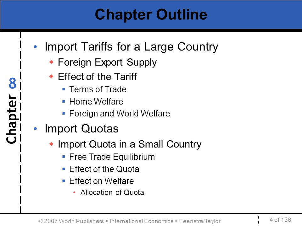trade policies import tariff and quotas This paper examines tariff and non-tariff policies or close to prohibitive for most normal trade explicit import quotas used to be quite common in.