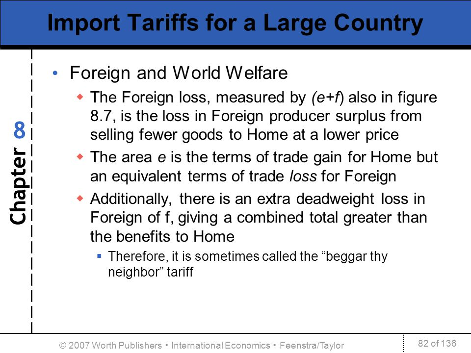 Import Tariffs for a Large Country