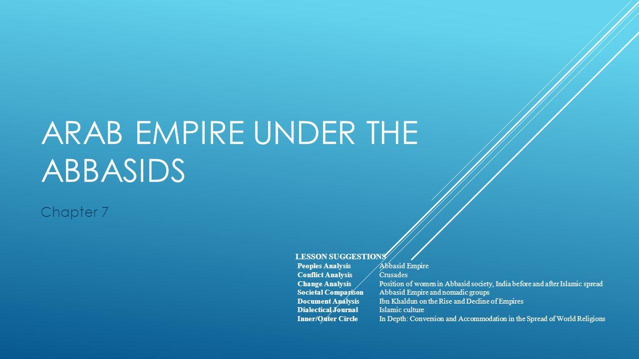 Arab Empire Under the Abbasids