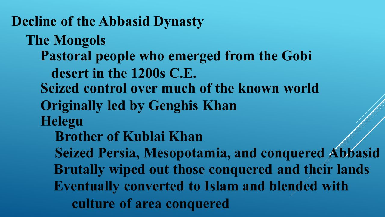 Decline of the Abbasid Dynasty
