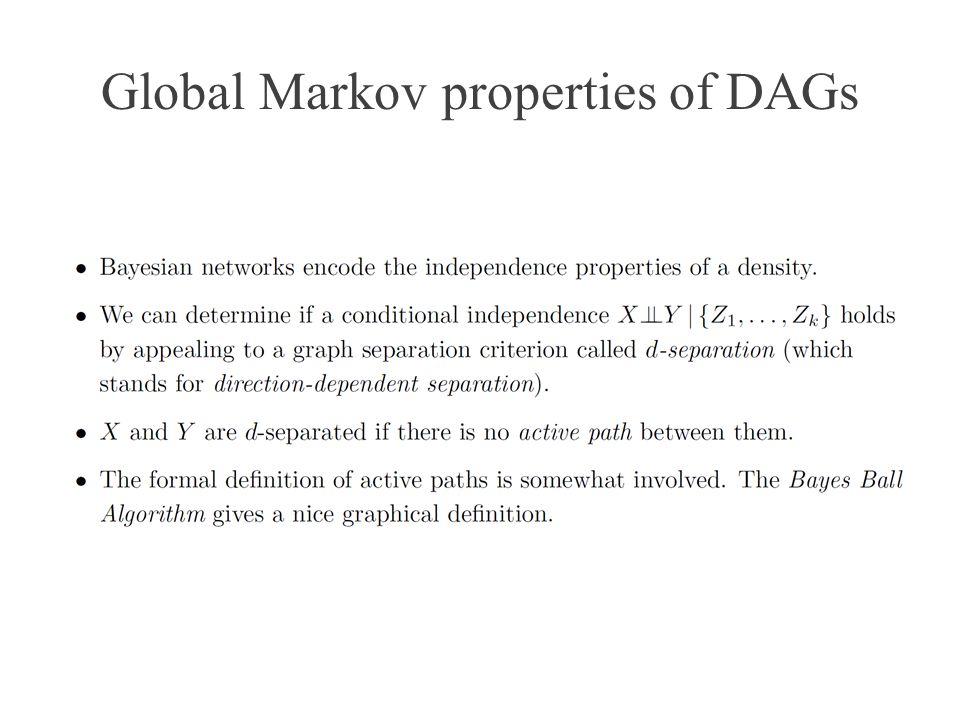 Global Markov properties of DAGs