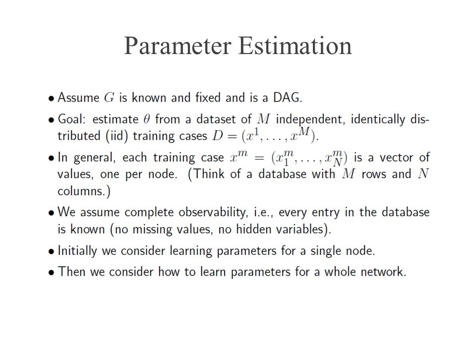 Parameter Estimation