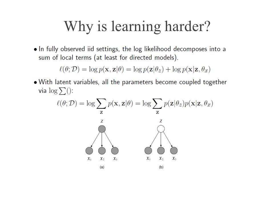Why is learning harder