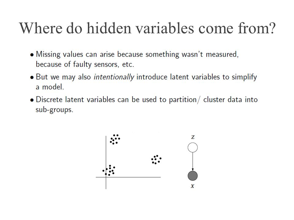 Where do hidden variables come from