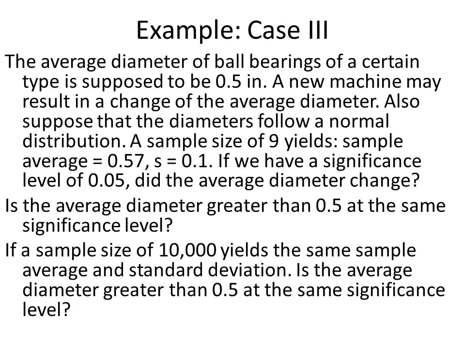 Example: Case III