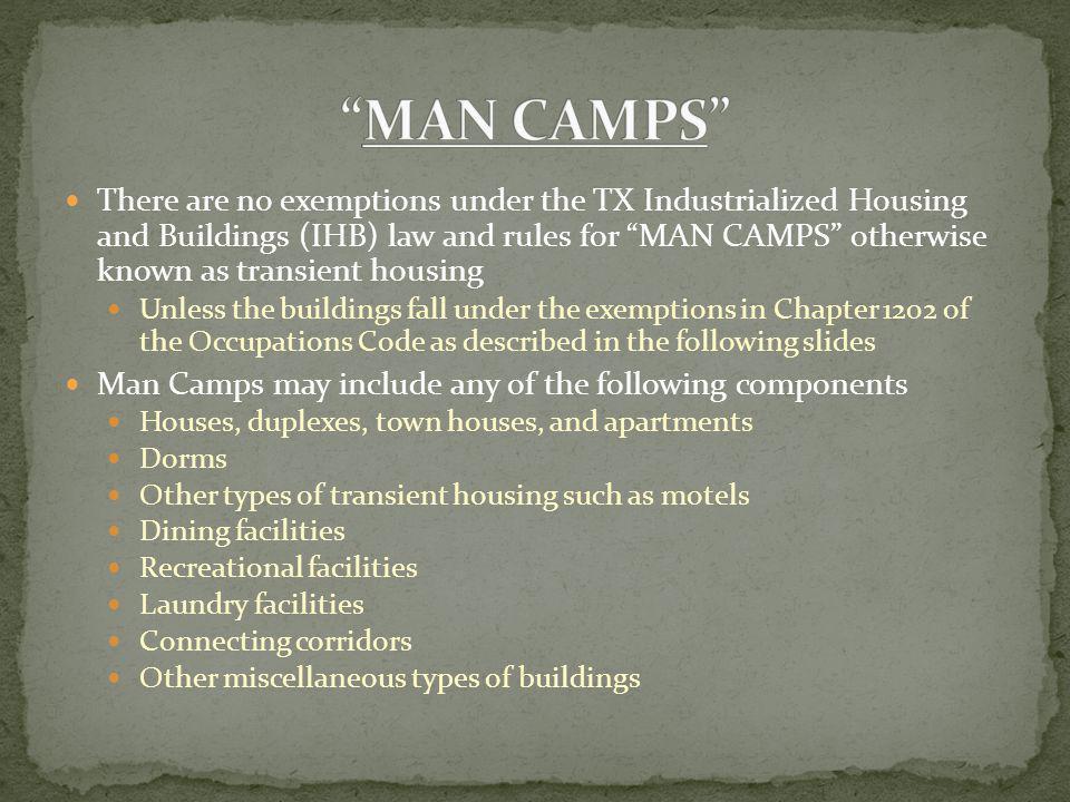 MAN CAMPS