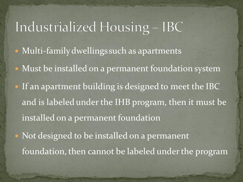 Industrialized Housing – IBC