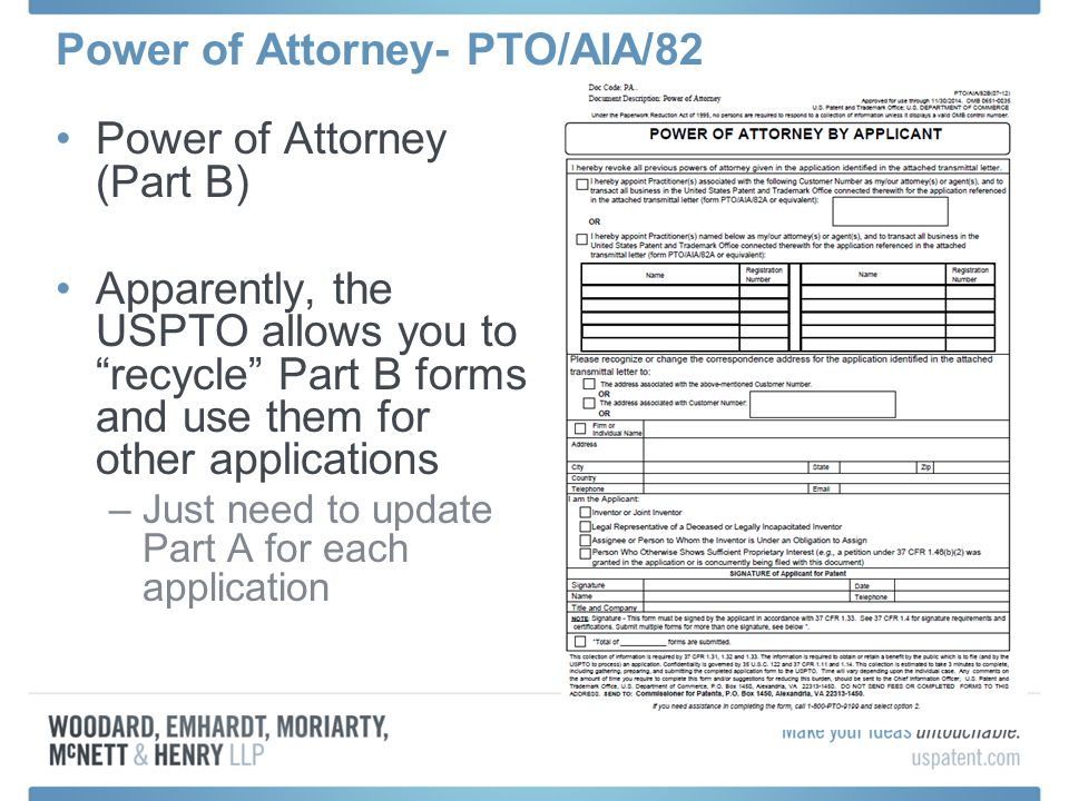 Power of Attorney- PTO/AIA/82