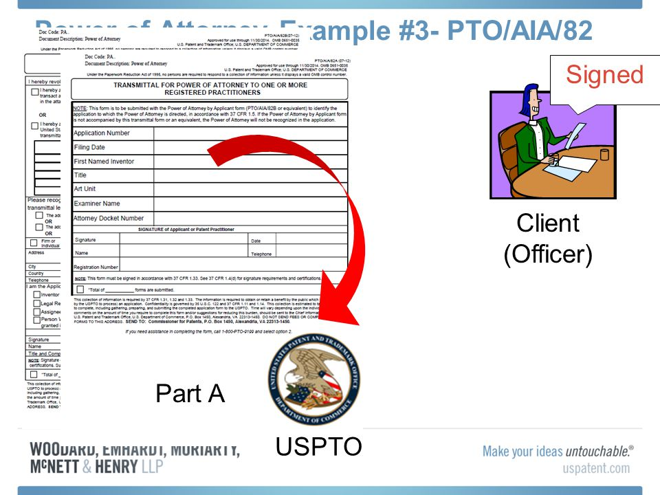 Power of Attorney Example #3- PTO/AIA/82