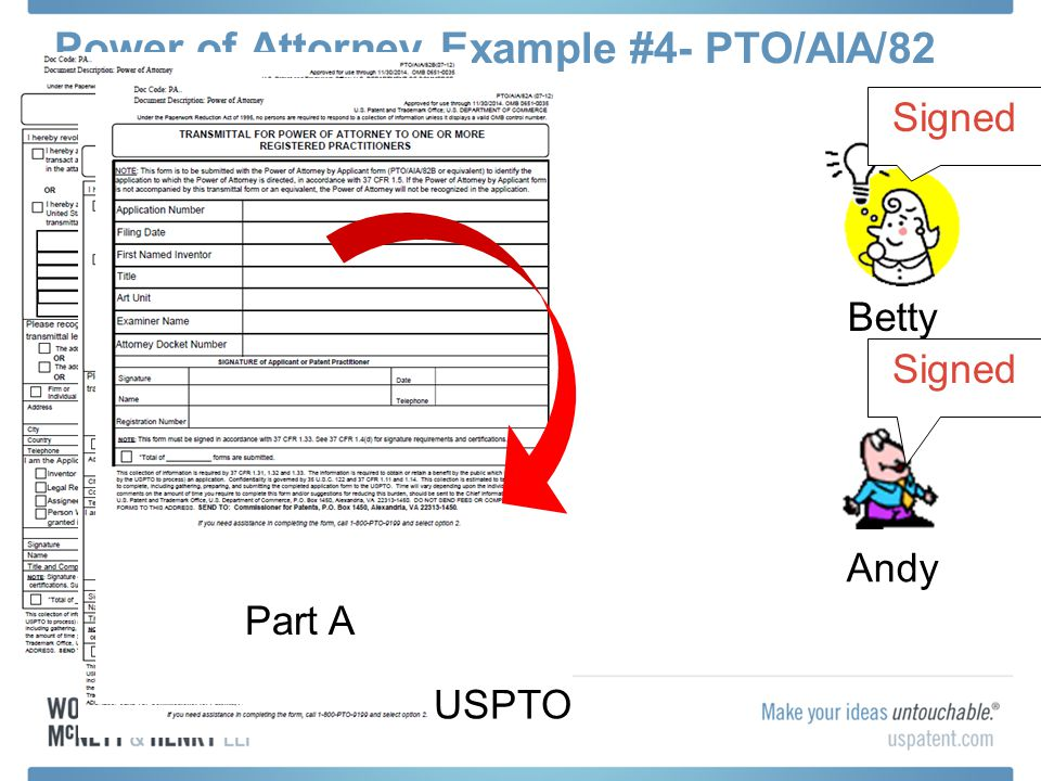 Power of Attorney Example #4- PTO/AIA/82