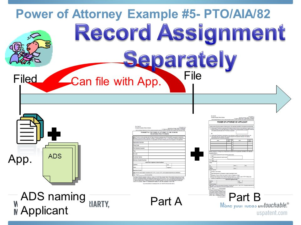 Power of Attorney Example #5- PTO/AIA/82