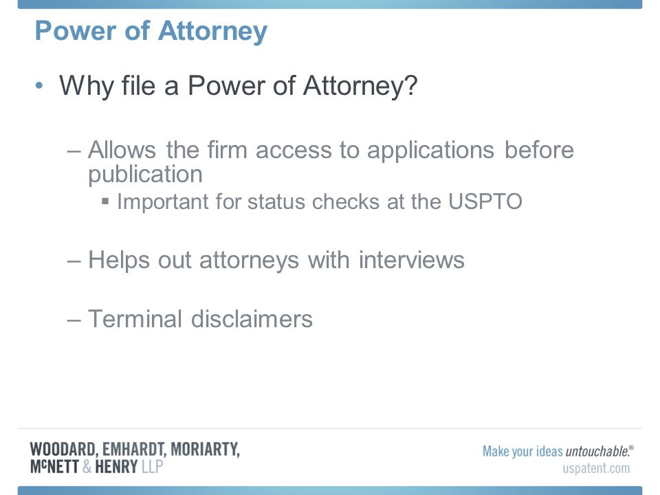 Why file a Power of Attorney