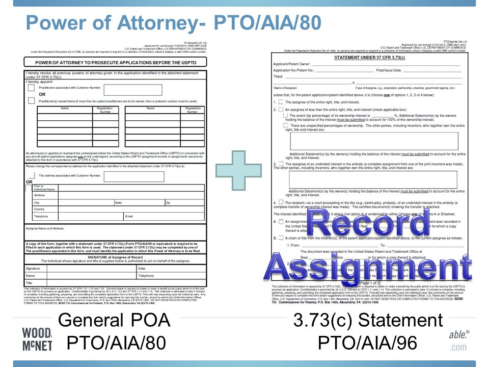 Power of Attorney- PTO/AIA/80