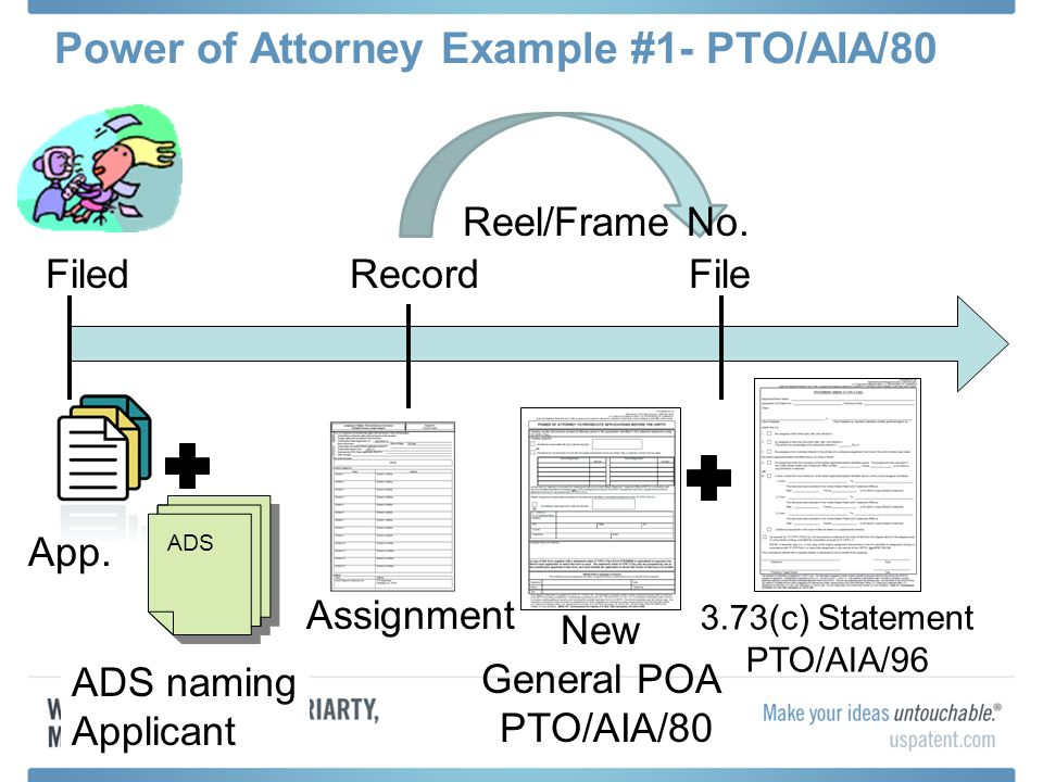 Power of Attorney Example #1- PTO/AIA/80
