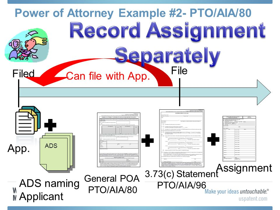 Power of Attorney Example #2- PTO/AIA/80