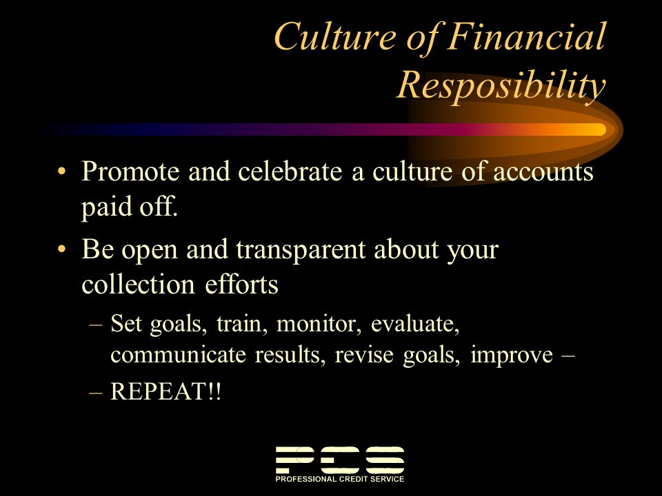 Culture of Financial Resposibility