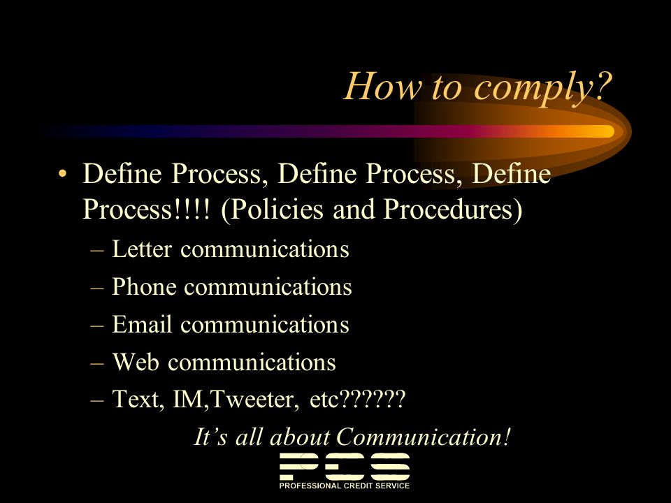 It's all about Communication!