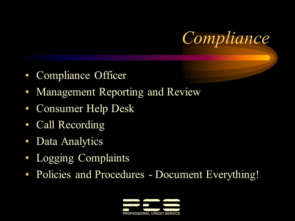 Compliance Compliance Officer Management Reporting and Review