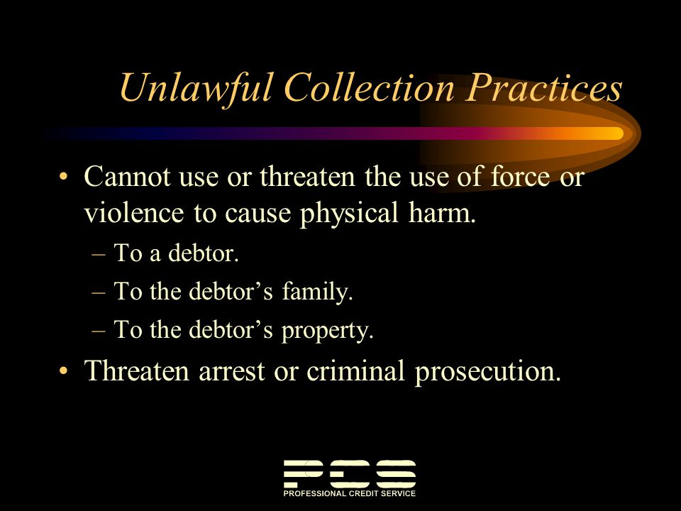 Unlawful Collection Practices