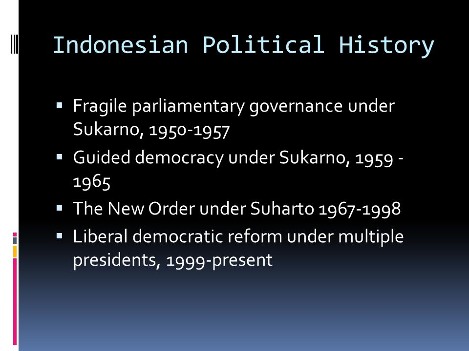 Indonesian Political History