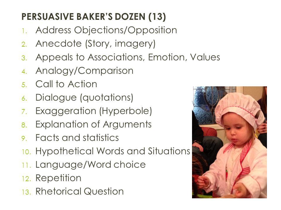 PERSUASIVE BAKER'S DOZEN (13)