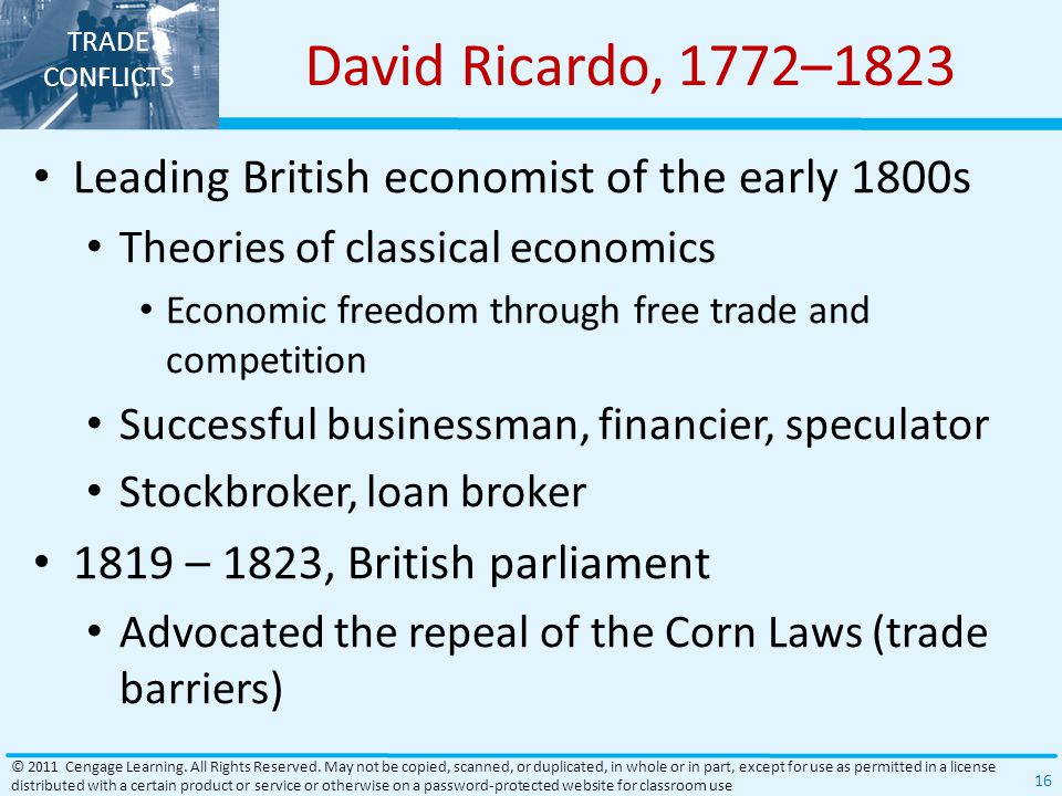 David Ricardo, 1772–1823 Leading British economist of the early 1800s