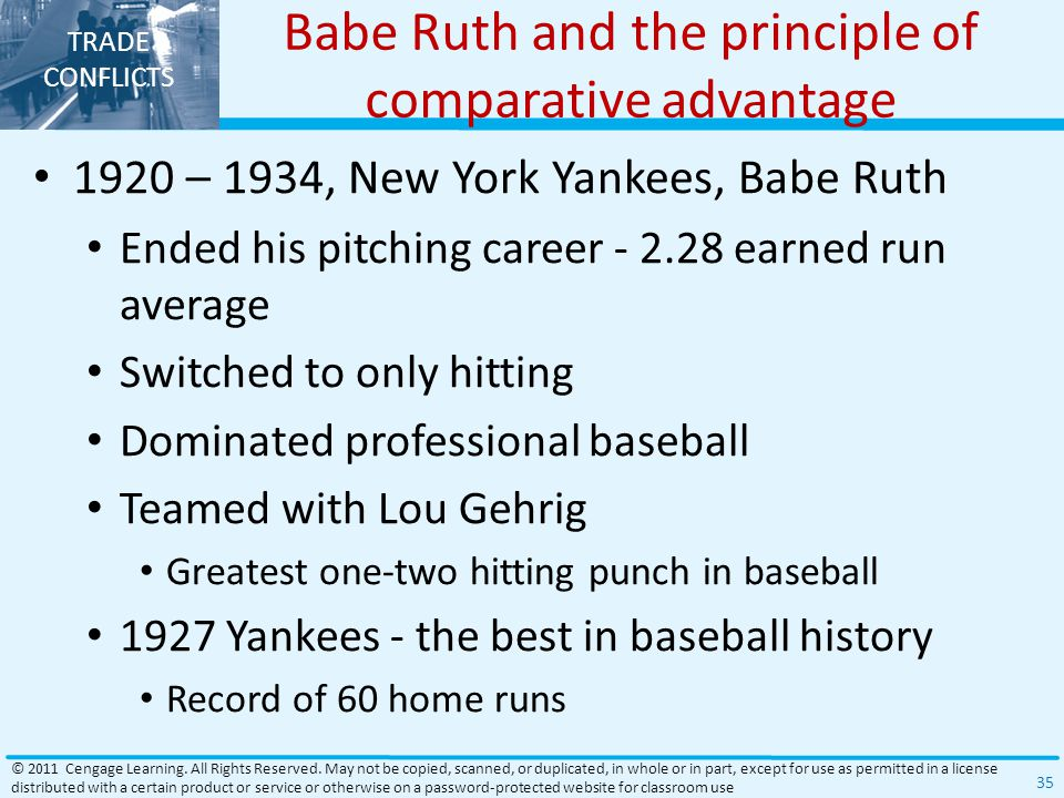 Babe Ruth and the principle of comparative advantage