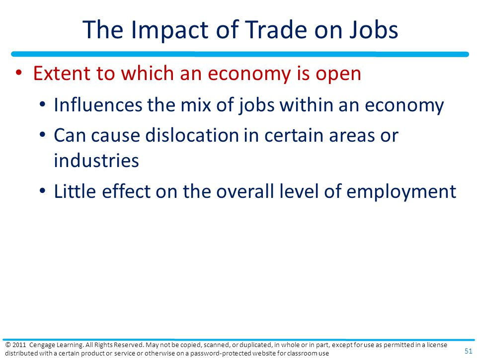 The Impact of Trade on Jobs
