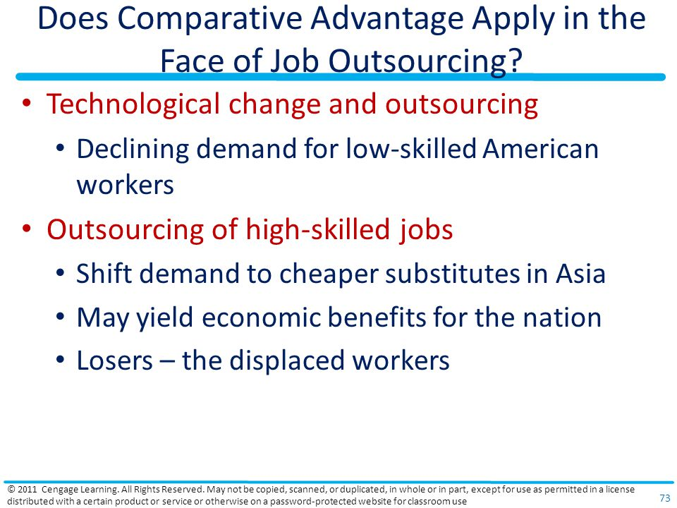 Does Comparative Advantage Apply in the Face of Job Outsourcing