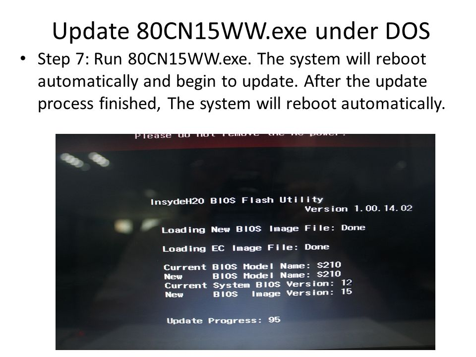 Update 80CN15WW.exe under DOS