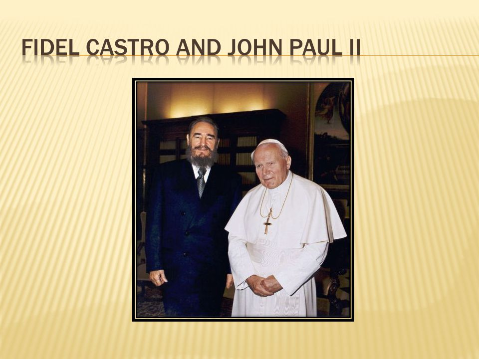 Fidel castro and john paul II