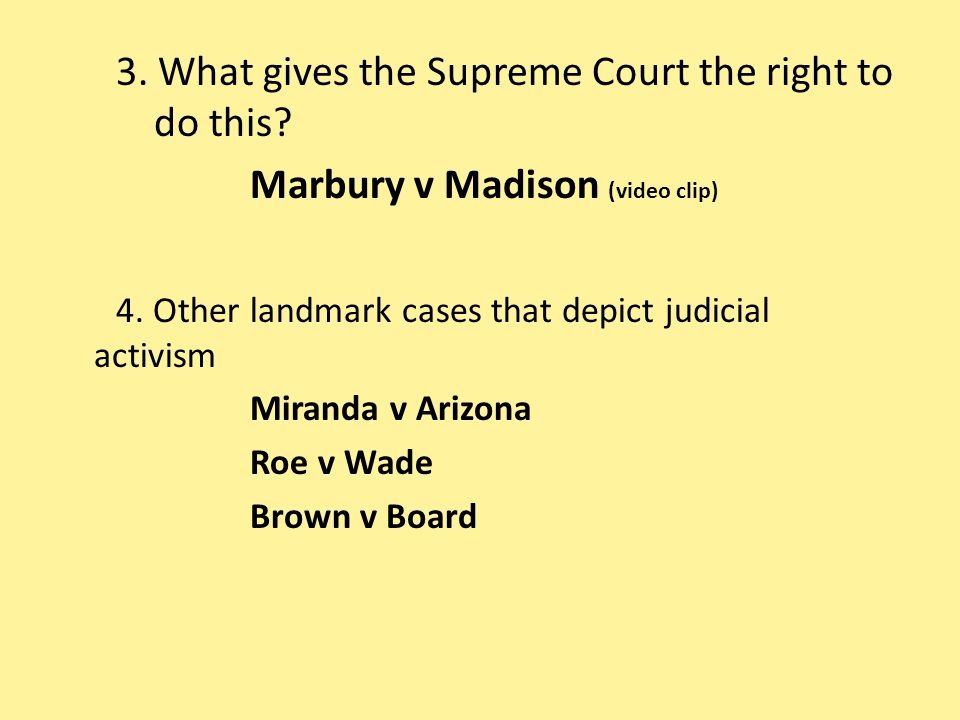 3. What gives the Supreme Court the right to do this