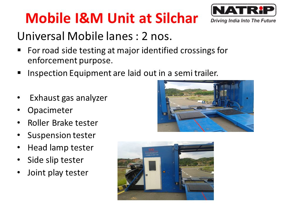 Mobile I&M Unit at Silchar