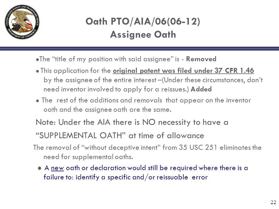 Oath PTO/AIA/06(06-12) Assignee Oath