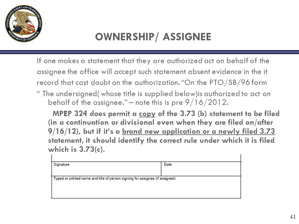 OWNERSHIP/ ASSIGNEE