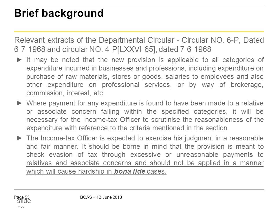 Brief background Under the pre- amended provisions: