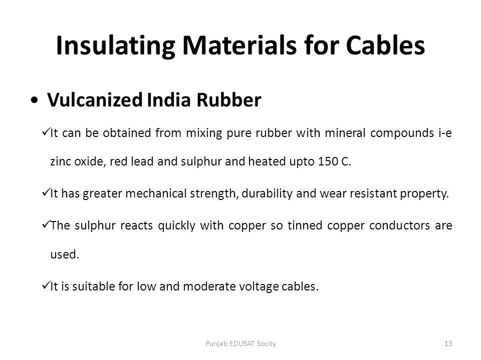 Insulating Materials for Cables