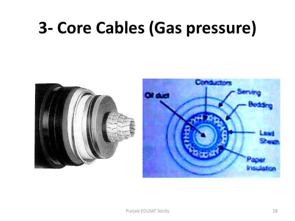 3- Core Cables (Gas pressure)