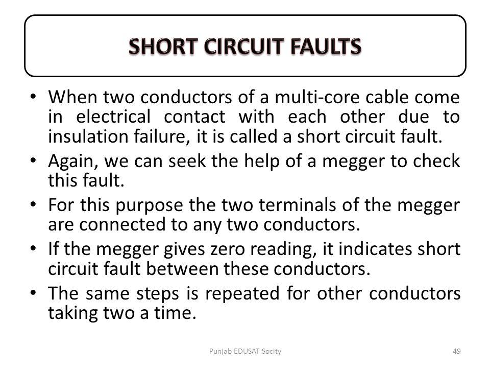 SHORT CIRCUIT FAULTS