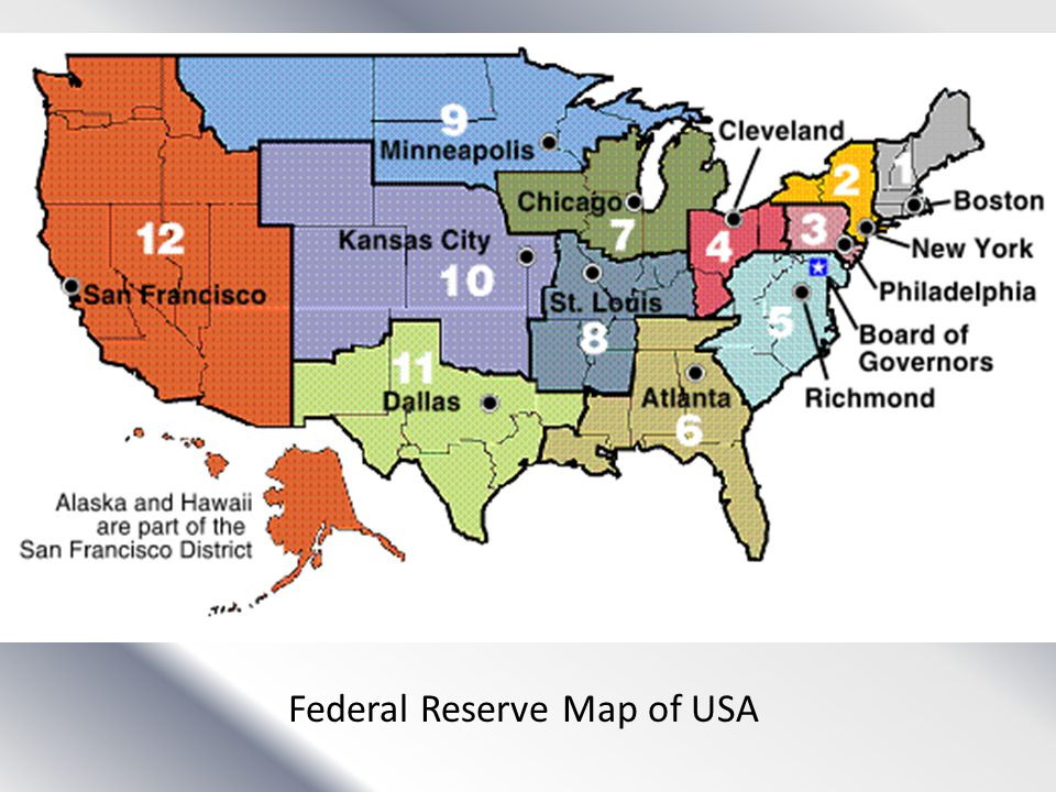 Federal Reserve Map of USA