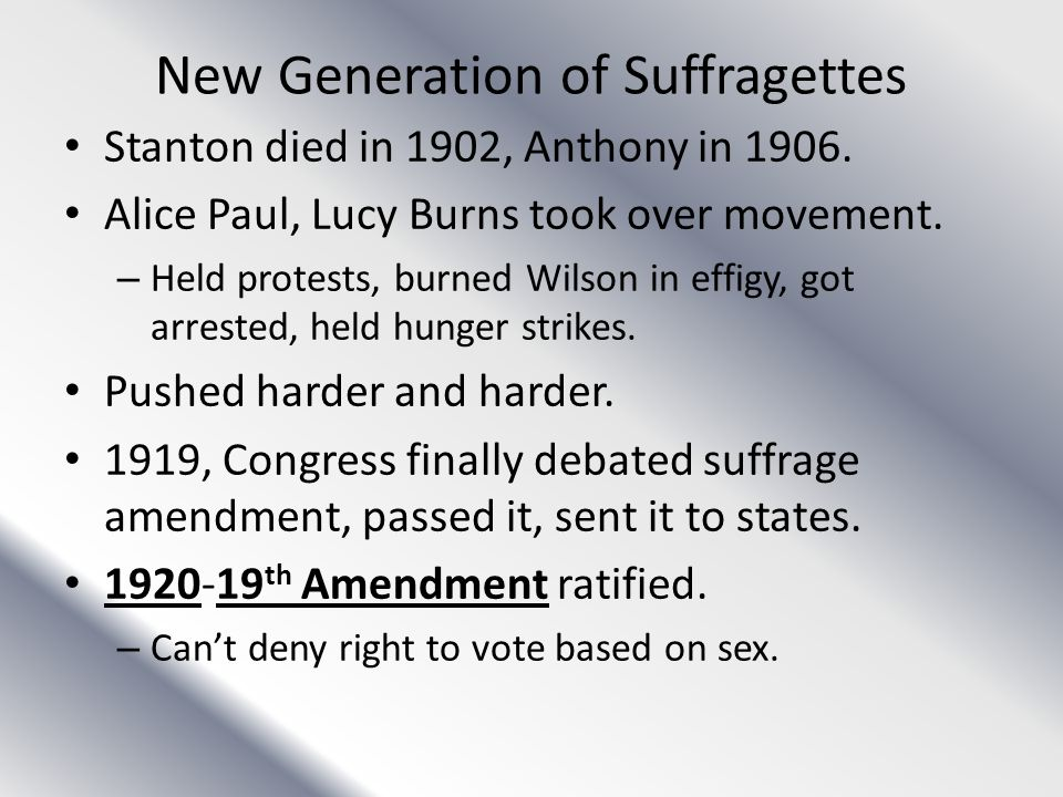 New Generation of Suffragettes