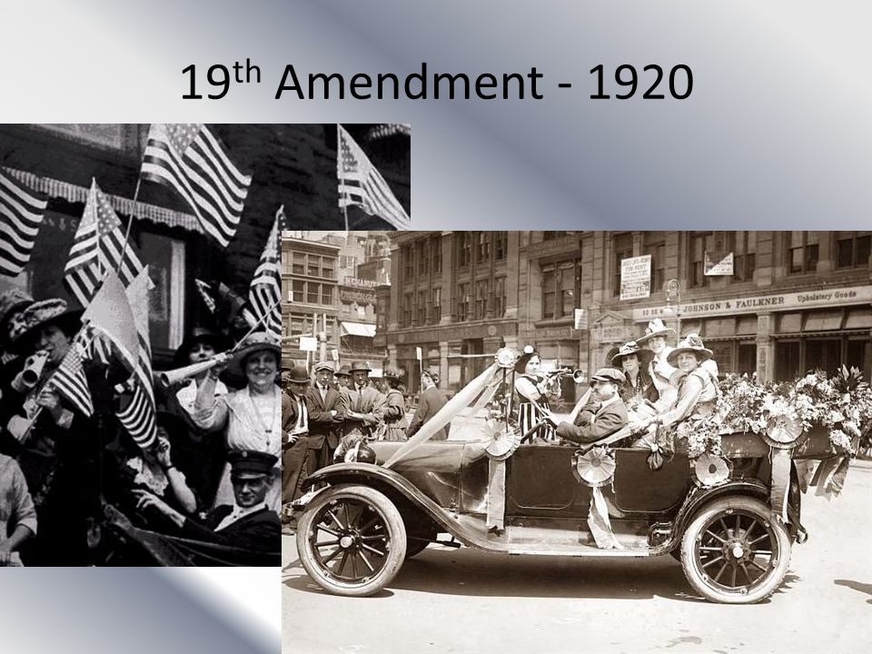 19th Amendment - 1920