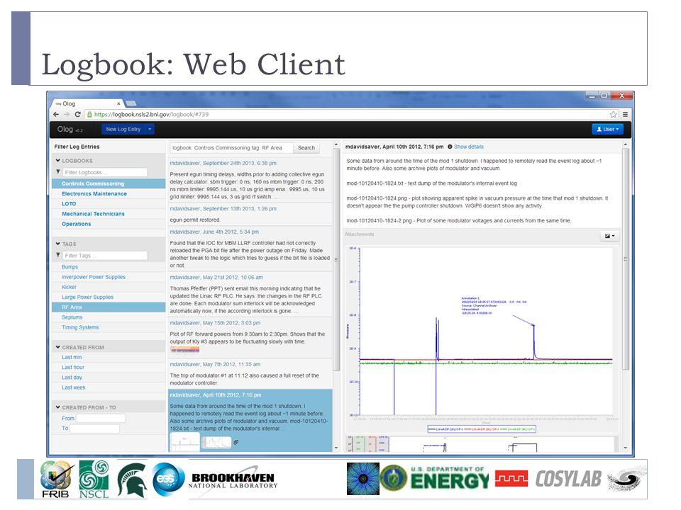 Logbook: Web Client