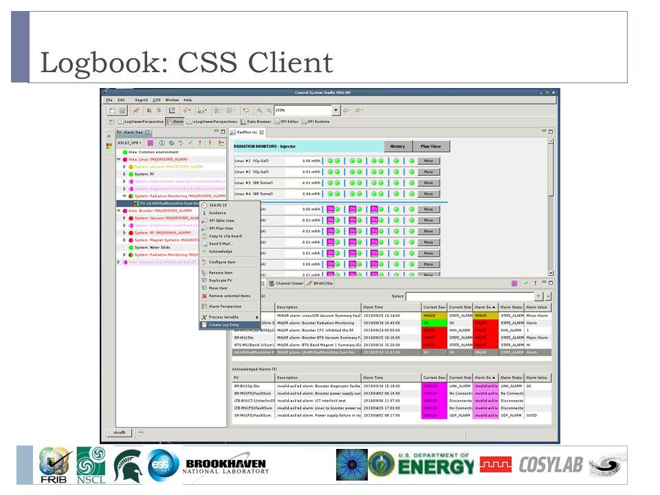 Logbook: CSS Client