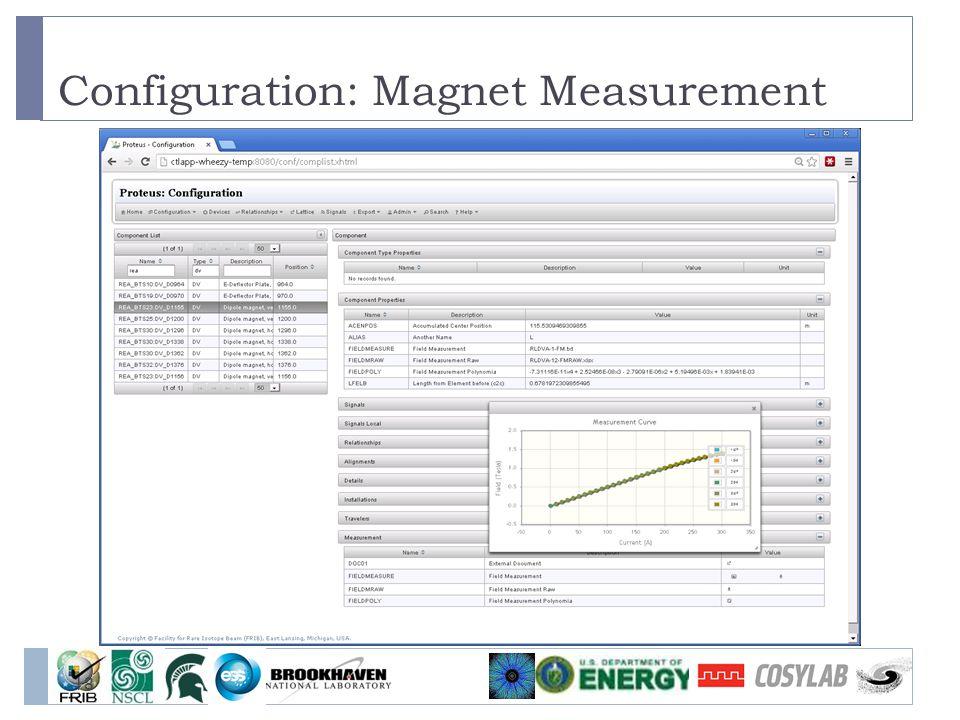 Configuration: Magnet Measurement