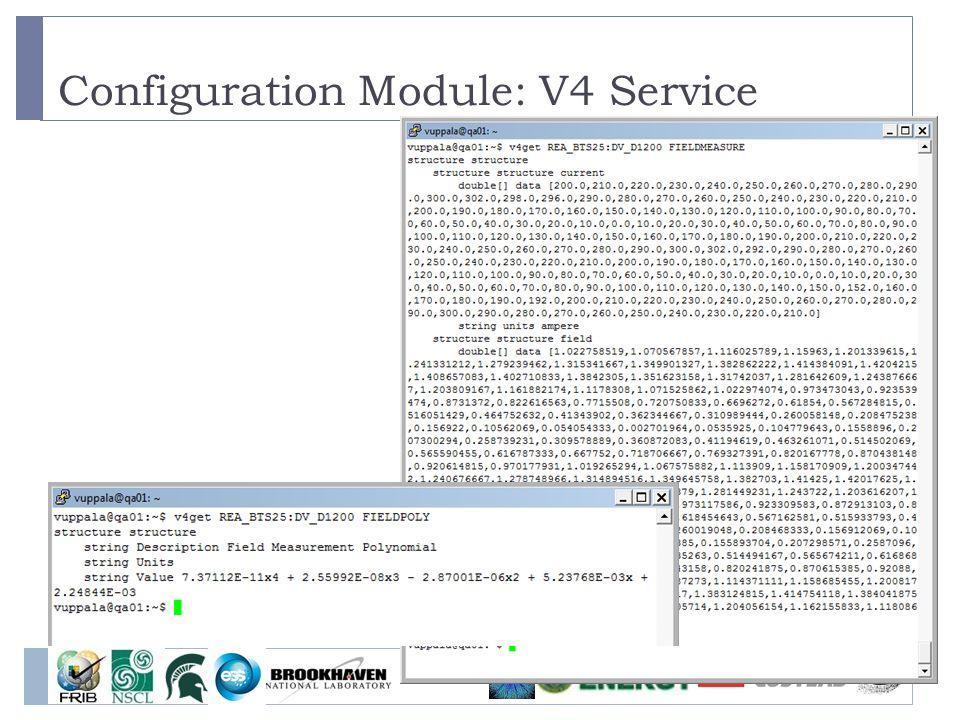 Configuration Module: V4 Service